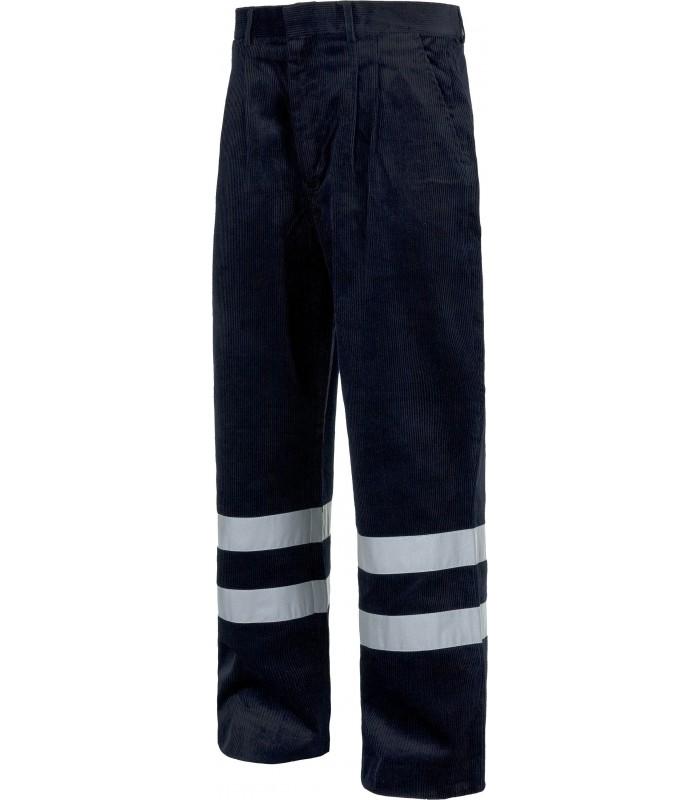 Pantalón de pana con reflectantes para industria y servicios Workteam S7016