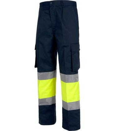Pantalón de Algodón de Alta Visibilidad Workteam C4019