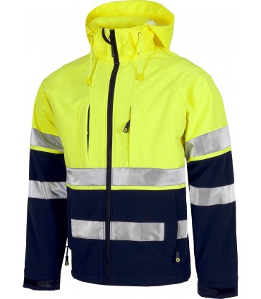 Chaqueta Workshell Alta Visibilidad Workteam S9525